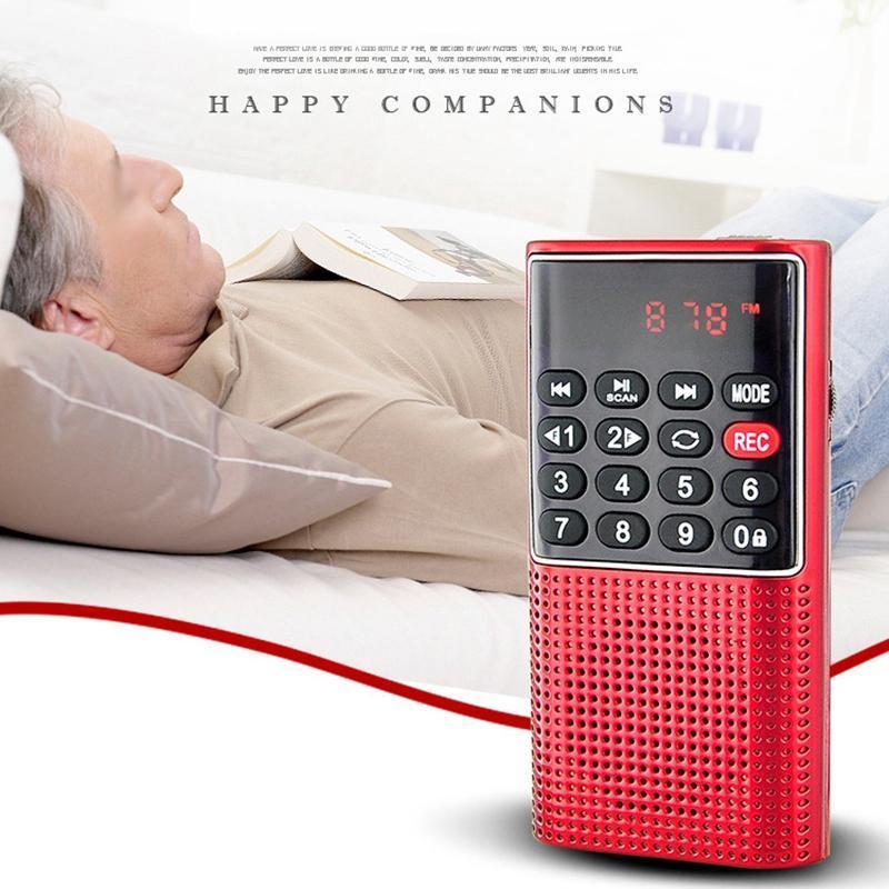L-328 Mini Pocket Portable FM Auto Scan Radio Music O MP3 Player Outdoor Pequeno Alto-falante com gravador de voz MP4 jogadores