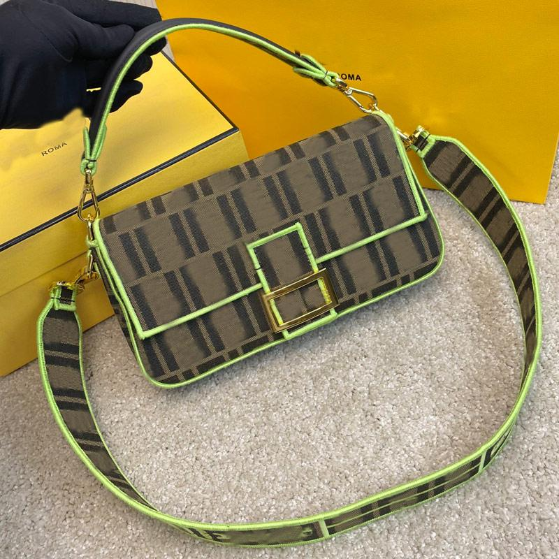 Messenger Baguette Bag Women Handbag Purse Crossbody Bags Fashion letter Canvas Handbags Golden Hasp Detchable Shoulder Strap Totes Two Size High Quality