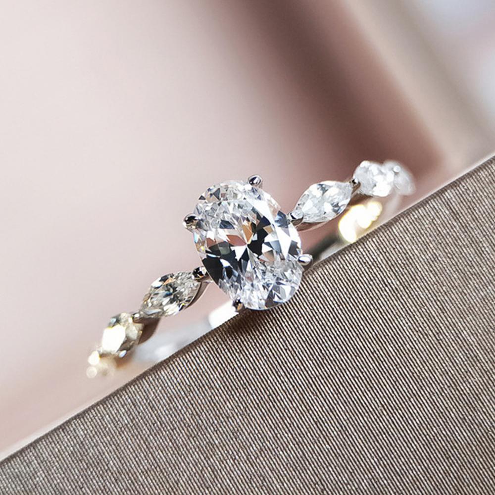 Daish Mulheres Anéis de Noivado AAA Cúbico Zircão Prata Cor Delicado Proposta Anel para amante de jóias de casamento de alta qualidade