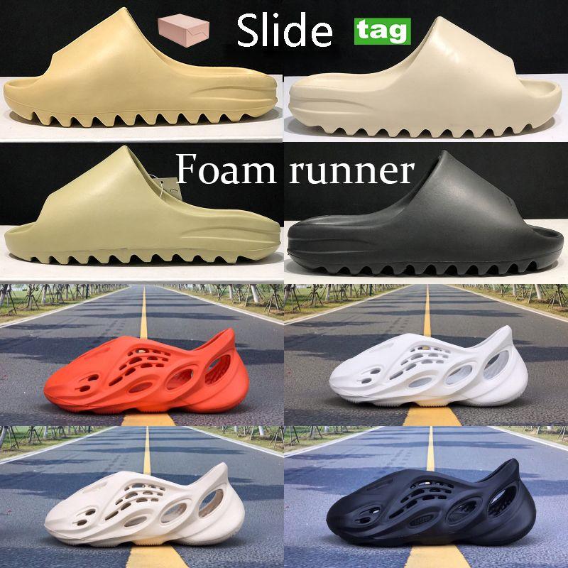 시원한 슬라이더 폼 러너 사막 모래 수지 뼈 지구 브라운 비치 슬리퍼 캐주얼 신발 아라랏 트리플 블랙 전체 오렌지 구멍 샌들