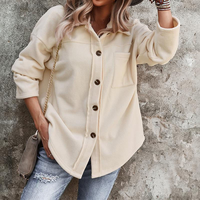 Women's Wool & Blends Women Autumn Long Sleeve Sweater Cardigan Sexy Button Jacket Solid Color Loose Knitted Single-Breasted Elegant Outwear