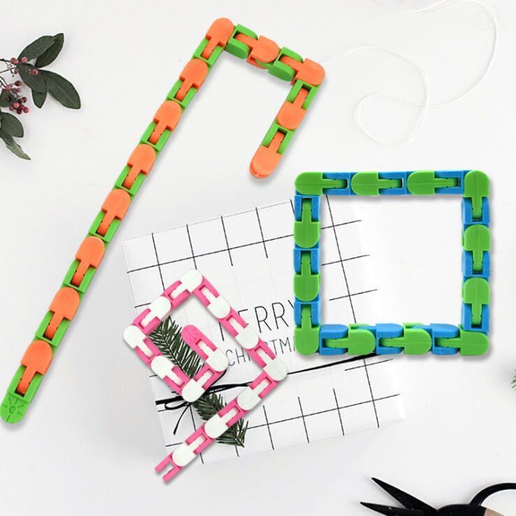 Fidget Snake Puzzle Wacky Pistas a presión y haga clic en Juguetes sensoriales para niños Ansiedad de adultos Alivio de estrés TDAHD NECESIDADES Partido educativo mantiene los dedos juguetes ocupados