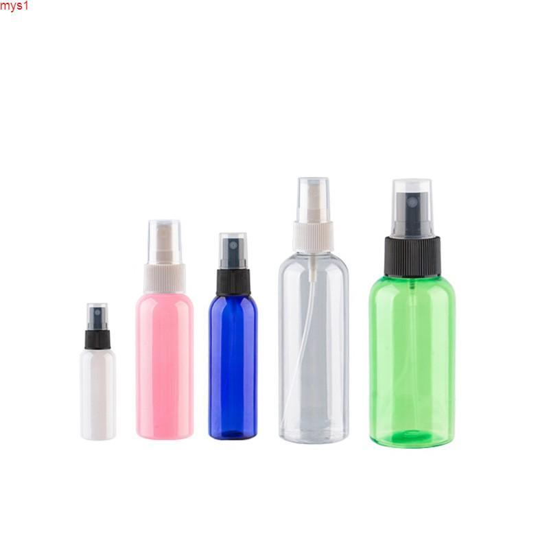 1 unid vacío de plástico spray botella para desinfectante de mano Tamaño de viaje Cuidado personal de bolsillo Perfume BottlesHigh Cantidad