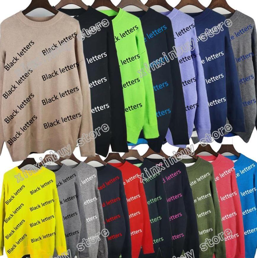 Maglione da uomo Ultima esplosione Stile Primavera Estate Full Body Letter Stampa Mens T-Shirt Alta qualità Fashion Fashion Western Style Black