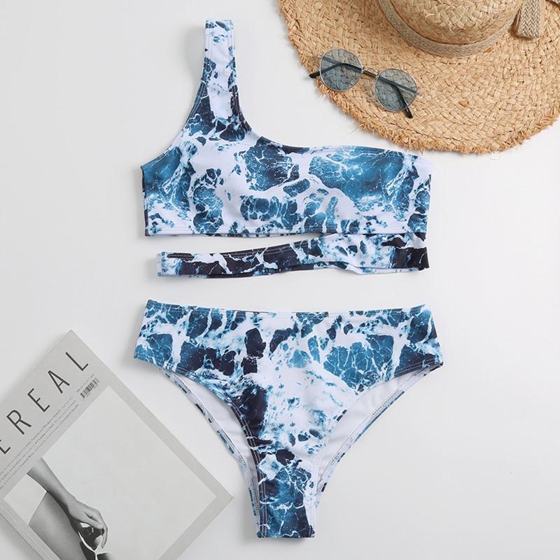 Swimwear feminino 2021 mulher sexy biquini push up floral conjunto de banho de banho beachwear biquini barracão de barriga dois pedaço