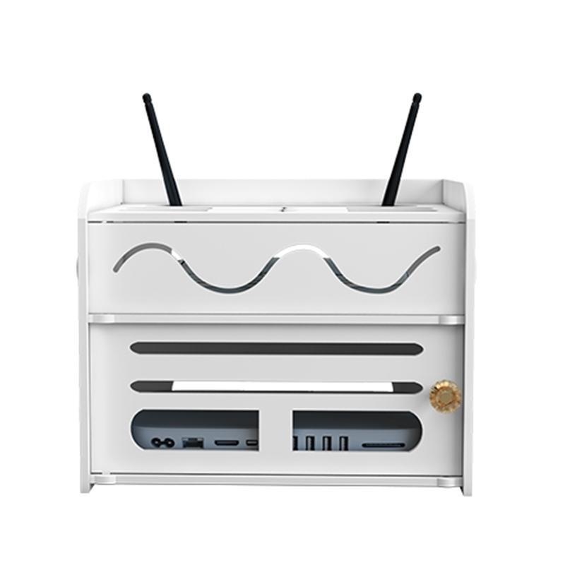 Caja de enrutador WiFi inalámbrico Tablero de alambre TVBAX TVBOX Power Strip Protection Cash Cable Organización Bin Home Rangement 210330