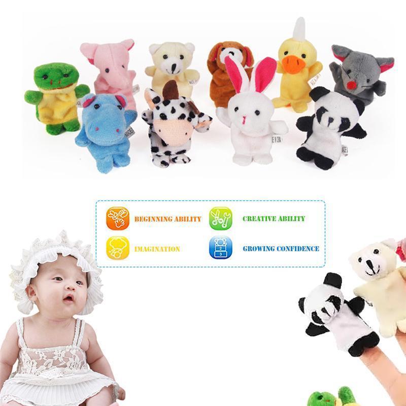 Baby Plush Pop Toy Игрушка Мультфильм Животное Пальчик Марионетка для детей Любимые Дети Без безделушки Детский день