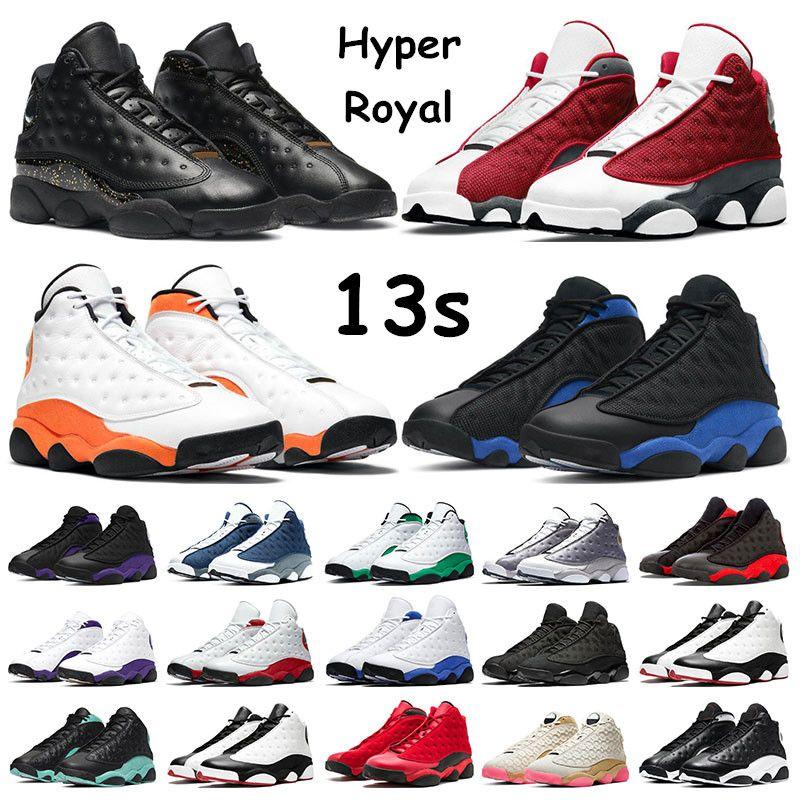 air retro jordan 13 jumpman 농구 신발 12S 대학 골드 INDIGO REVERSE 독감 게임 택시 다크 콩코드 스포츠 운동화 크기 7-13 야외