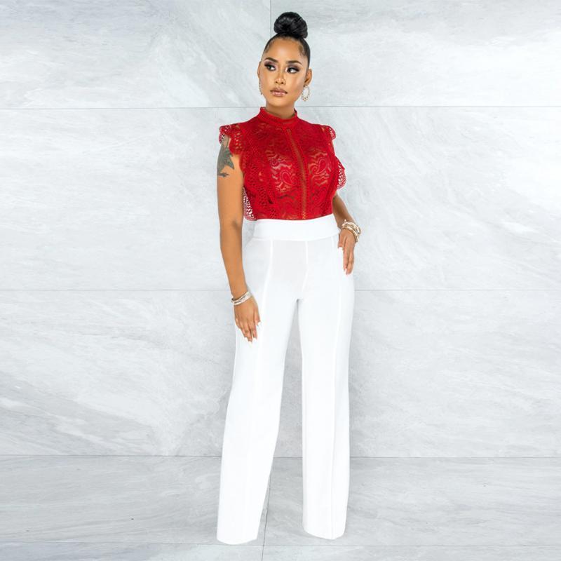 Frauen-Jumpsuits Internet Celebrity Berühmte Bodysuits Solide Stickerei Oansatz Sexy Nachtclub Bodycon Strampler Felyn 2021 Ins