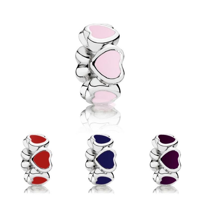 Molti Little Heart OIP Spazio Dripping Space Bead Big Hole Moda Donna Gioielli Stile europeo per la collana del braccialetto fai da te Panza005-70