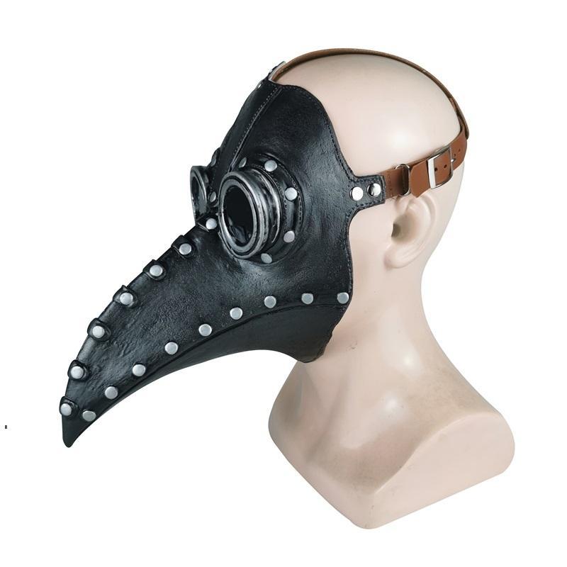 Punk Leder Pest du Doktor Maske Vögel Cosplay Carnaval Kostüm Requisiten Mascarillaas Party Mask Maskerade Masken Halloween Owd8937