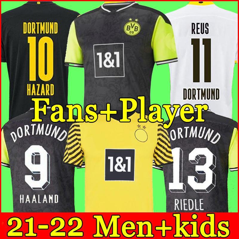 dortmund Borussia HAALAND REUS 21 22 camiseta de fútbol 2021 2022 chandal de fútbol BELLINGHAM SANCHO HUMMELS BRANDT hombres + kit para niños camisa de la soccer jersey cuarto