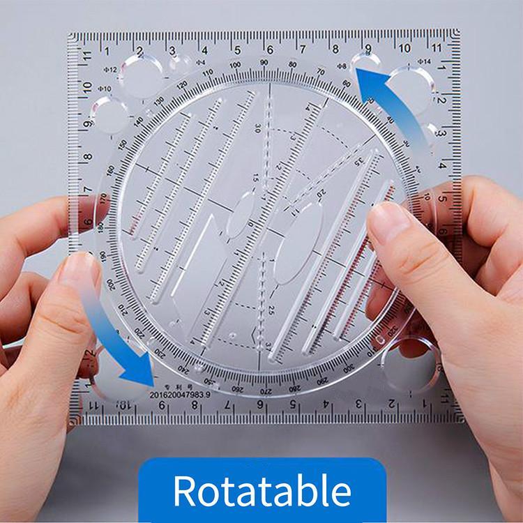2 colours Manuscript Hand account design Drawing ruler Multifunctional drawing rule Multifunction desktop Drawing rulers Measuring tool