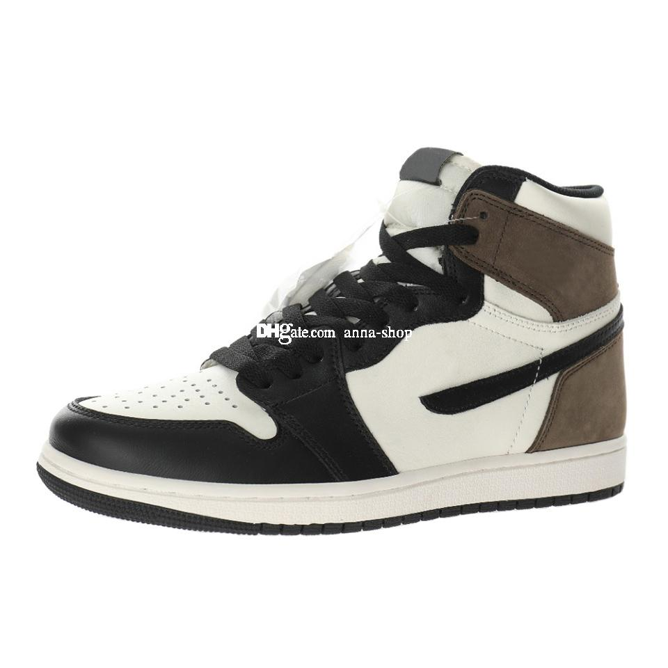 Jumpman Dark Mocha Scarpe da basket per uomo Sport Sport Mens Skate Boots Donne Skateboard Boot Womens Mid Sneakers uomo Sneaker 555088-105