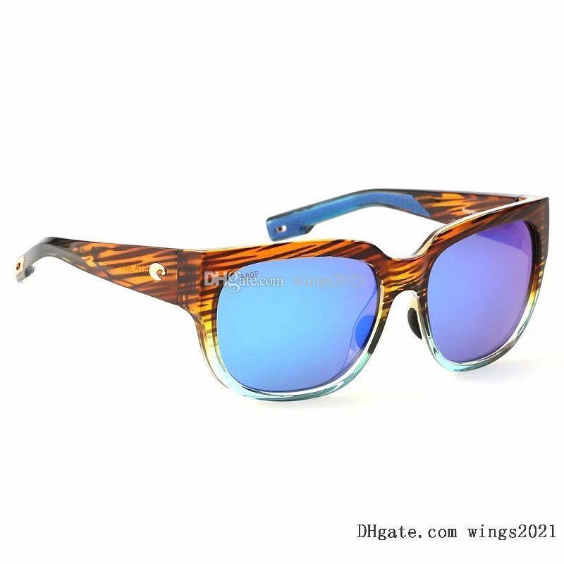 Klasik Kosta Güneş Gözlüğü Erkekler Için Lüks Tasarımcılar Güneş Gözlükleri UV400 Yüksek Kaliteli Polarize PC Lens 580 P Renk Kaplamalı TR-90Sillicone Çerçeve - Model Waterwoman 2