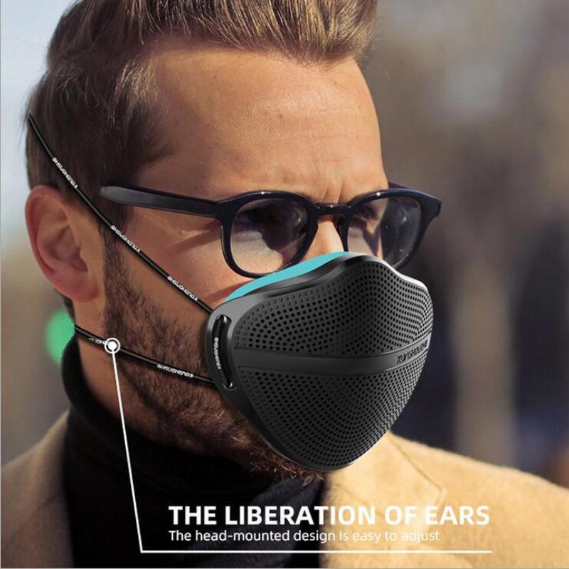 Kanshouzhe nuova maschera XL lavabile riutilizzabile maschera viso naso separazione della separazione della polvere della polvere maschere della polvere respiratore con i filtri 5pcs