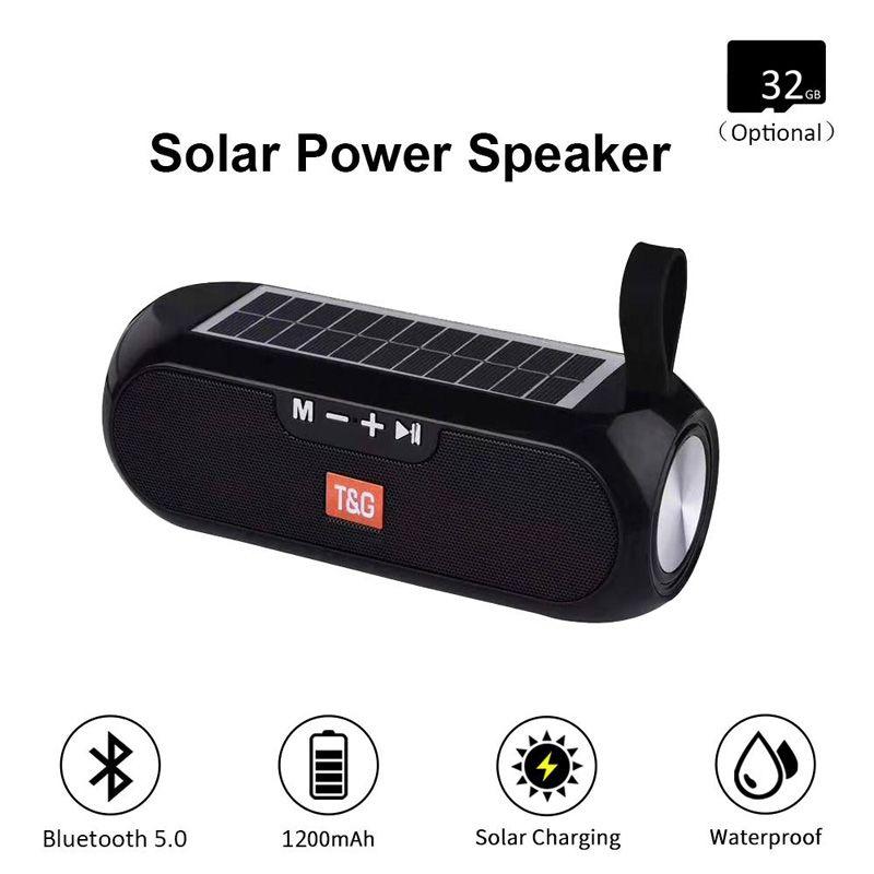 TG182 Solar Power Bank Bluetooth Coluna Portátil Coluna Sem Fio Stereo Box Boombox TWS 5.0 Suporte ao ar livre TF / USB / AUX