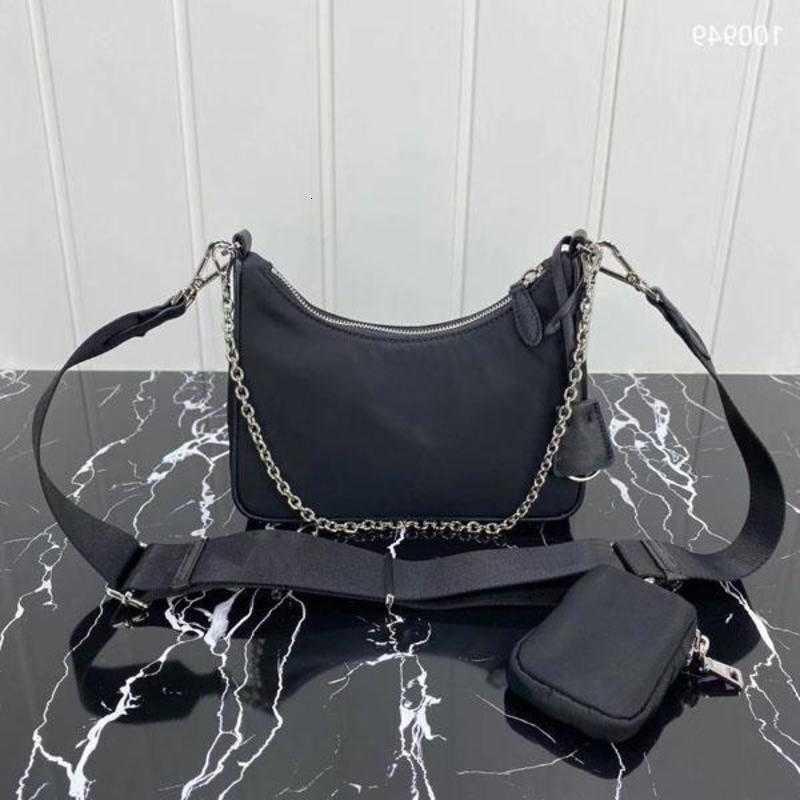 Leinwand Nylon Cross Body Bags 1bh204 Designer Handtaschen Messenger Schulter Frauen Luxus Zipper Dame Brustkette Tasche Schlüssel Brieftasche