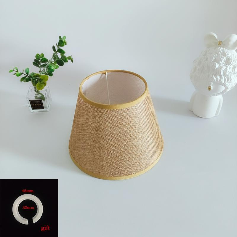Lamp Covers & Shades Xianfan E27 Korean Yellow Linen Table Kitchen Wall Lampshade Turkish Tiffany Free E14 Adapter Ring