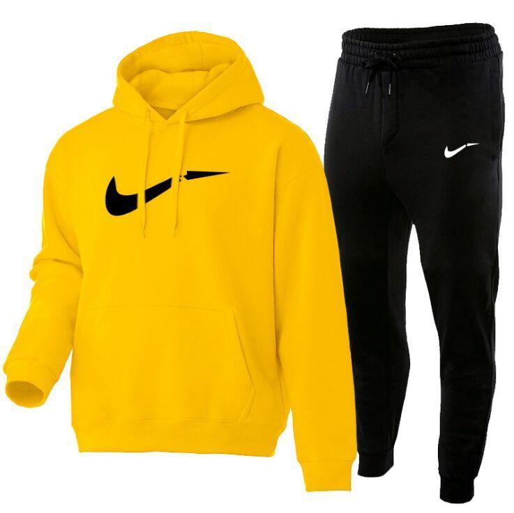 2021 İlkbahar Sonbahar Erkekler Rahat Setleri Splice Jogger Eşofman Pamuk Hoodies + Pantolon Baskı erkek Spor Spor Suit Artı Boyutu S-XXXL