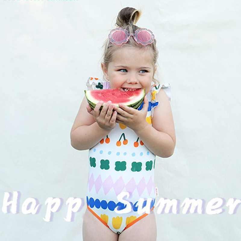 Kids Swimwear Baby Girls Children Bikini One-Piece Toddler Swimsuit Choses Summer Swimming Swimpool Costumes Clothing Sets