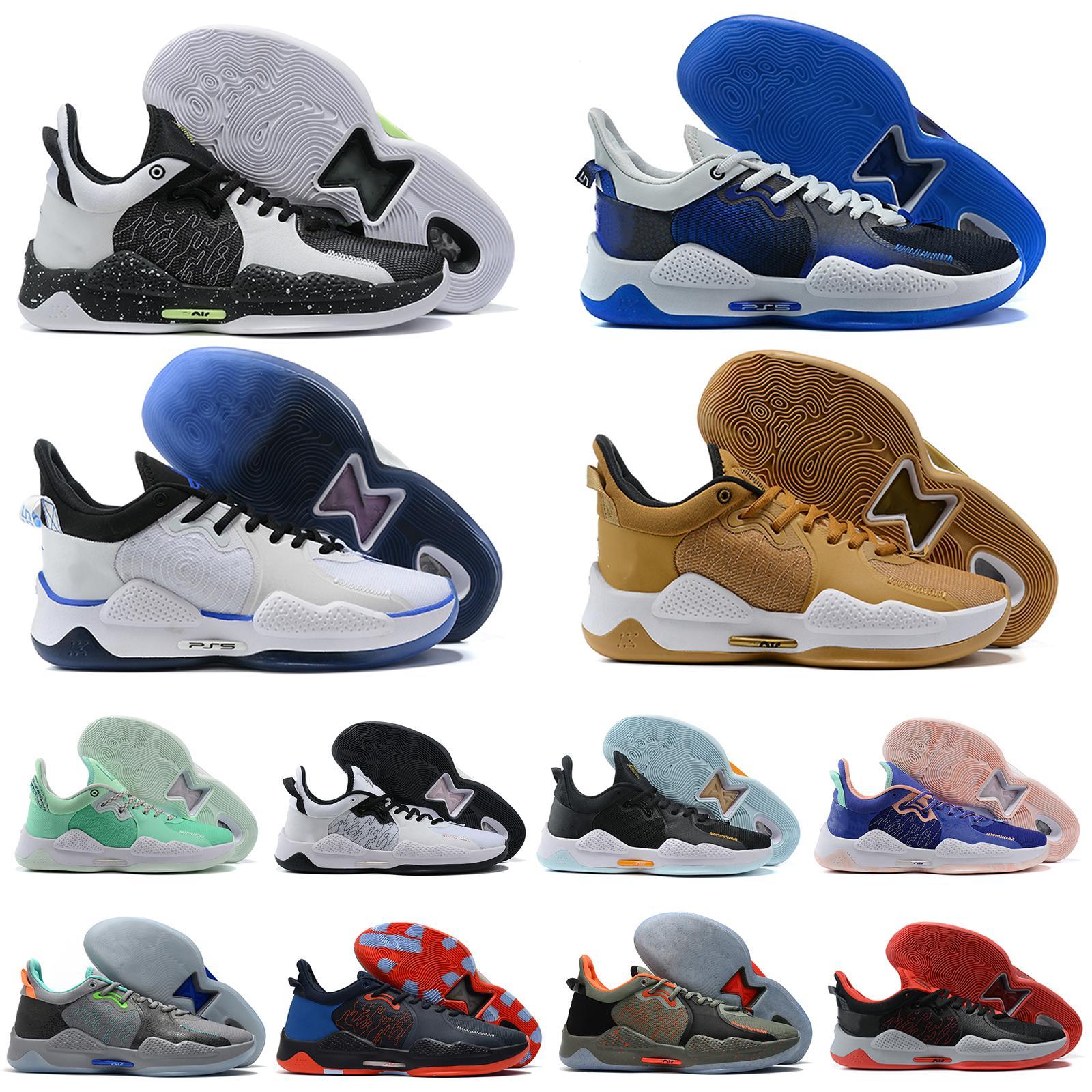 Erkekler Paul George PG 5 5 S Palmdale IV Basketbol Ayakkabı P.George PG5 Yıldızlı Mavi Turuncu Nane Yeşil Siyah Spor Sneakers Boyutu US7-12