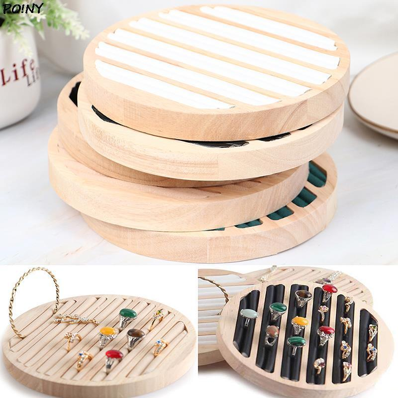 حقائب المجوهرات، أكياس 1PCS جولة تخزين خاتم صينية حامل لصينية للاستخدام التجاري بالتجزئة