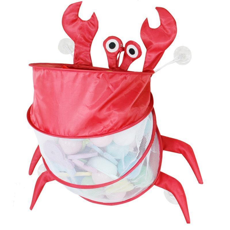 Ящики для хранения BINS Детская ванна Сумка с сильными всасывающими чашками Симпатичная форма животных Складной Организатор Легкий портативный для детей 2021