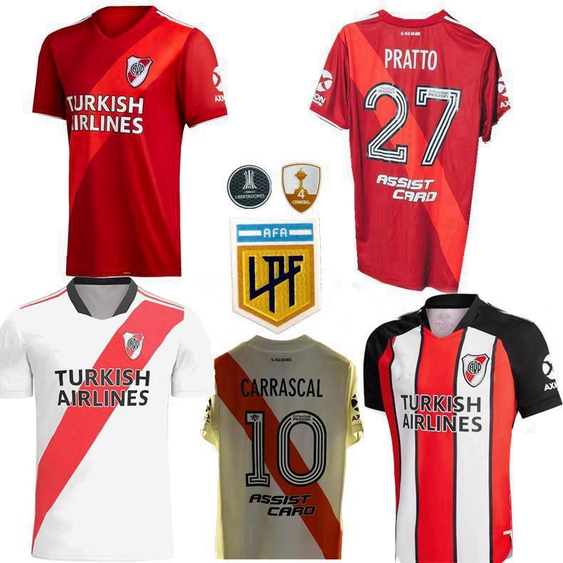 Acquista 2021 2022 River Plate Soccer Jerseys Quintero Pratto Borre Carrascal Casa Away 3a 20 21 22 Camicia Da Uomo E Bambini Calcio A 11,64 € Dal ...