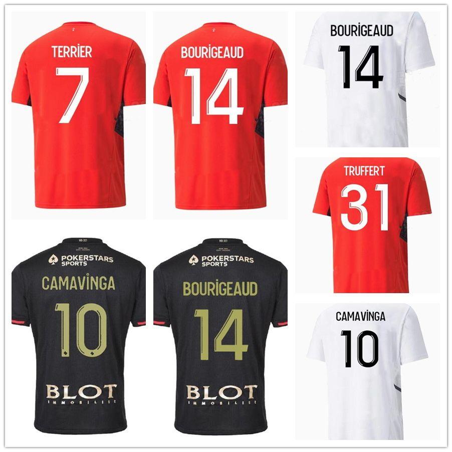 21-22スタイドレンナスホームSiebatcheu 9サッカージャージ1件の周年記念タイ料理品質サッカージャージーFutebol#7ラフィニャ#7ナン#21アンドレフットボール