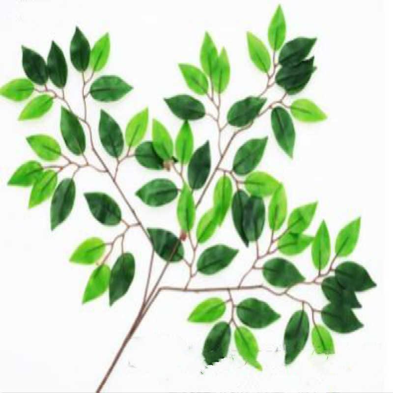 인공 실크 ficus 잎 지점 은행 나무 녹지 반얀 잎 가짜 단풍 홈 주방 가든 사무실 결혼식 벽 장식