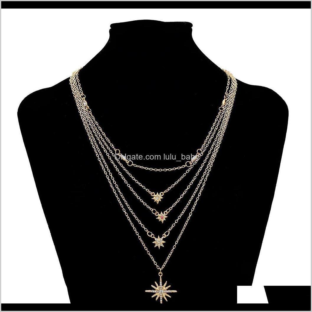 Beaded Necklaces Golden Necklace Tassel Long Fashion Simple Elegant Wedding Jewelry Nl56T Ekbd9