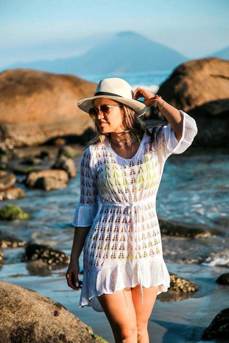 Swimsuit Women's Knitting Beach Clothes Bikini Sunscreen Cover Up Shirt In Spring And Summer 2021 Swimwear