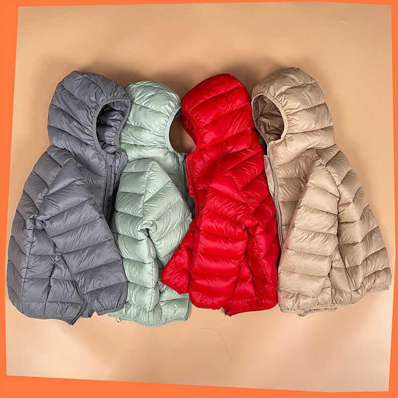 Bear Leader Children Jacket Outerwear 2021 New Fashion Boy and Girl Autumn Warm Hooded Coat Teenage Parka Kids Winter Jacket G0908