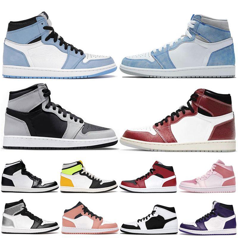 Hyper Royal 1 high og scarpe da basket 1s univeristy blu blu metà rosa chicago toe dark moka twist uomo sneakers sportivo sportivo