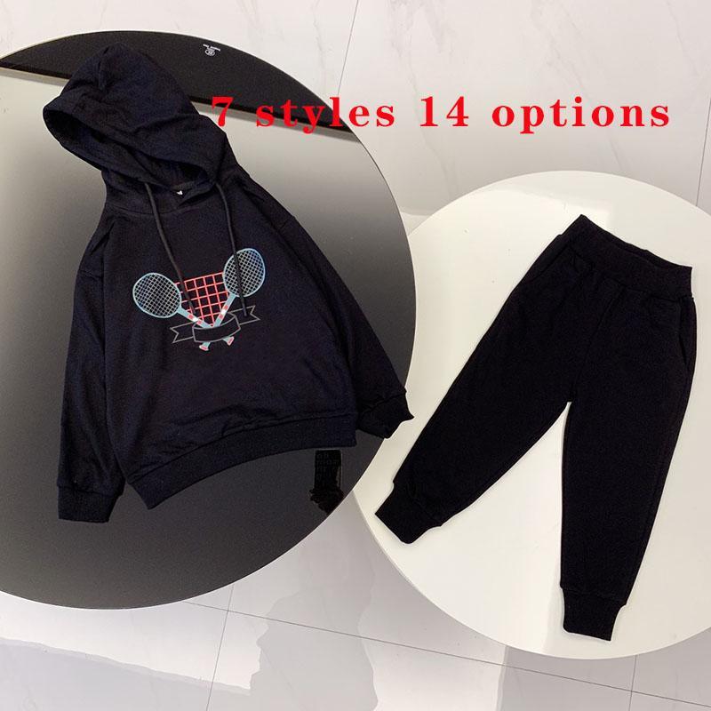 Kinderkleidung Sets Pullover Zweiteiler Anzug Baby Jungen Mädchen Hoodie Anzüge Kind Sweatshirt Sweatpants 7 Arten 14 Optionen Größe 90-150 Herbst