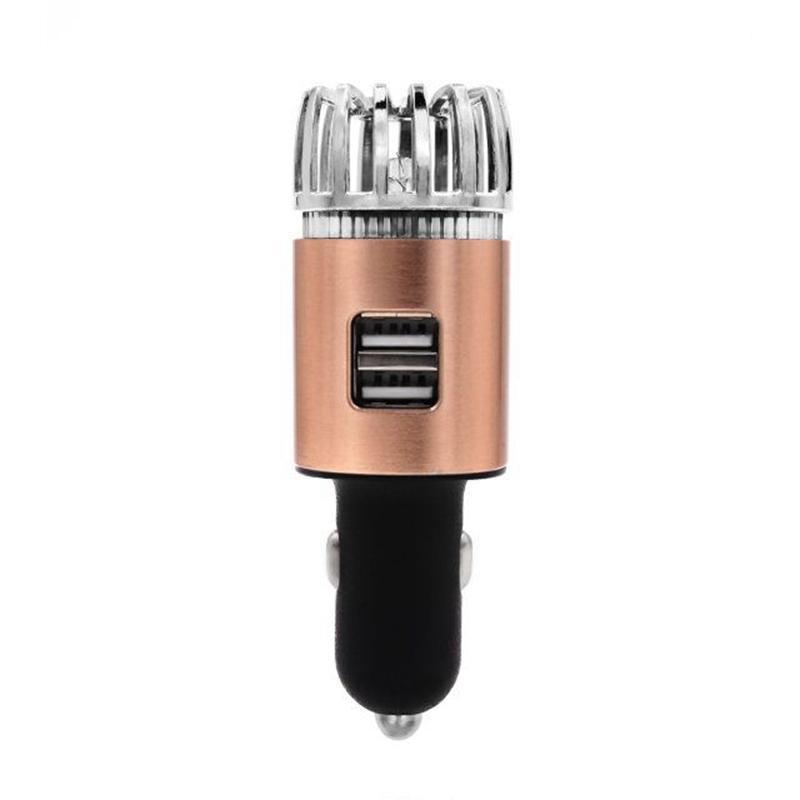 자동차 공기 청정기 청정기 이온화 장치 -12V 플러그인 이온 usb USB 충전기 - 연기 냄새, 애완 동물 및 음식 냄새가있는 냄새가 난다.