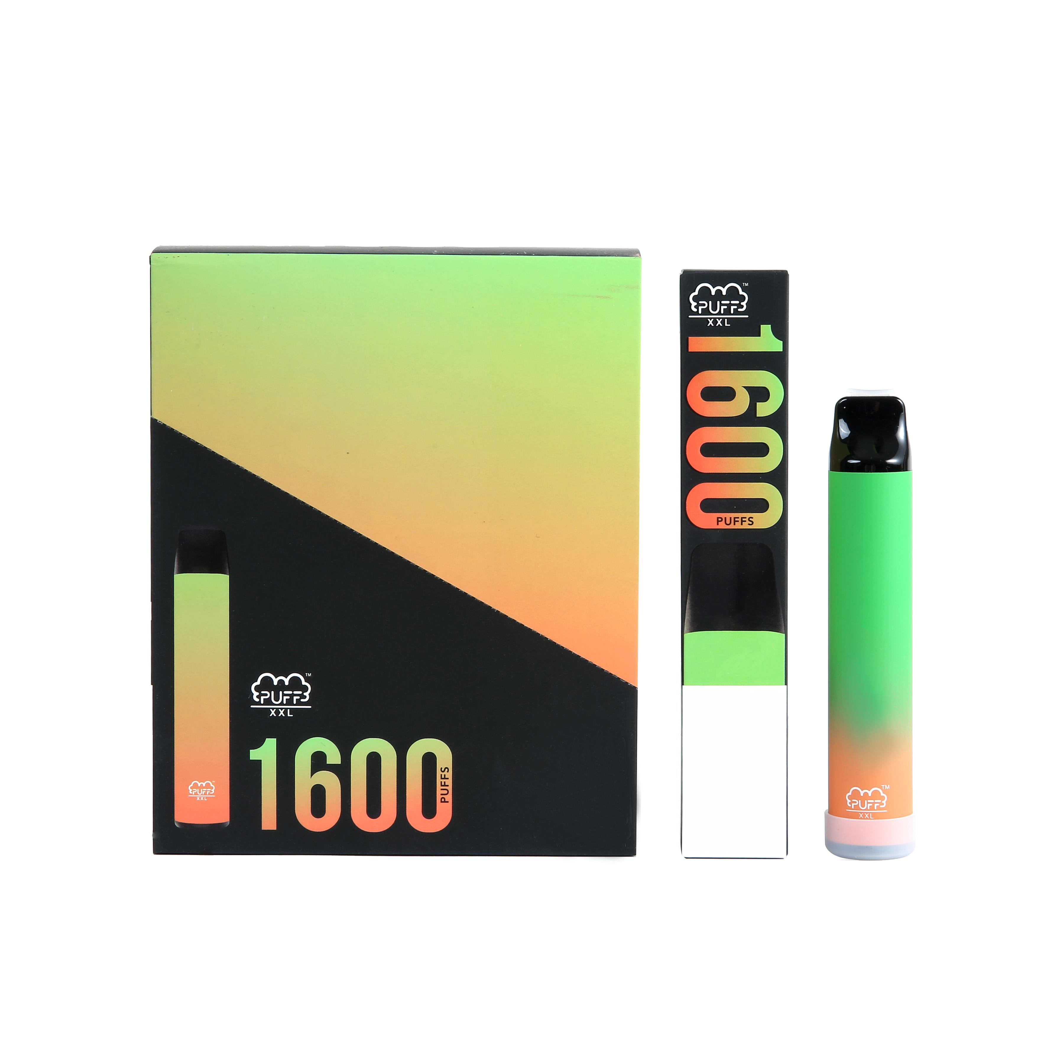 Ecigarettes monouso PUFFO XXL Dispositivo VAPE Pen 1600Puffs Bar 600mAh 4ml Cartucce Pod Pod Pre-riempita VAPOR E CIGS Portatile VAPorizer Kit