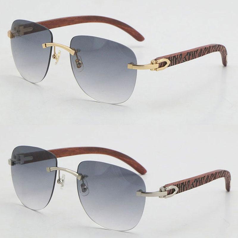 도매 판매 원래 나무 선글라스 UV400 렌즈 금속 유니섹스 대형 사각형 패션 나무 태양 안경 18K 골드 고글 C 장식 남성과 여성