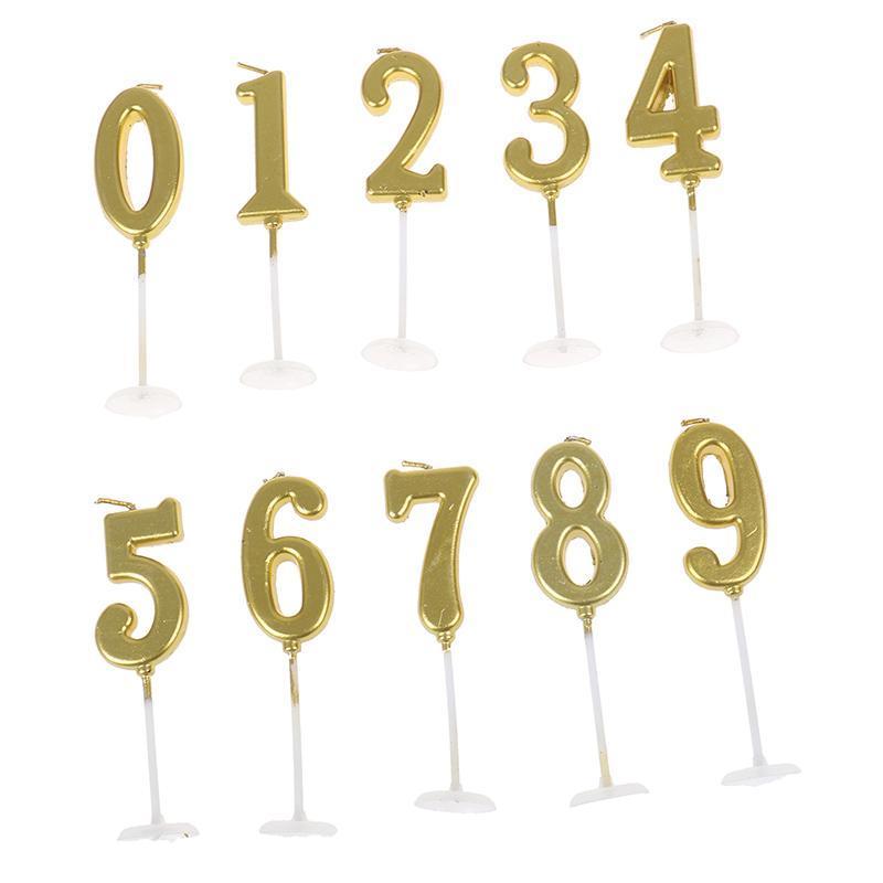 Andere Event Party Supplies 1 STÜCKE 1 2 3 4 5 6 7 8 9 0 Geburtstag Kerzen Gold Splitter Kinderkrone für Kuchen