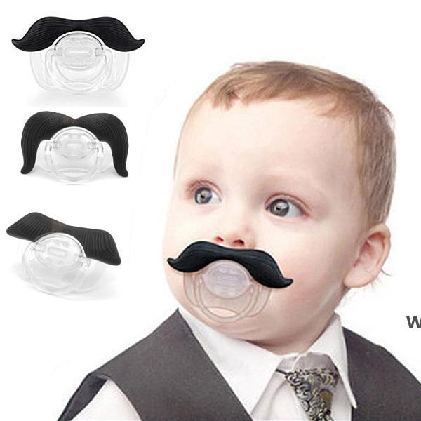 실콘 재미있는 콧수염 입술 유아 아기 소년 소녀 유아 젖꼭지 치열 교정 자 더미 수염 젖꼭지 DHB6202