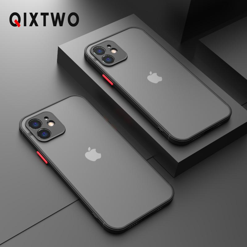 Luxury Silicone Shockproof Matte Phone Case For iPhone 11 12 Pro Max Mini X XS XR 7 8 Plus SE 2020 Ultra Thin Transparent Cover
