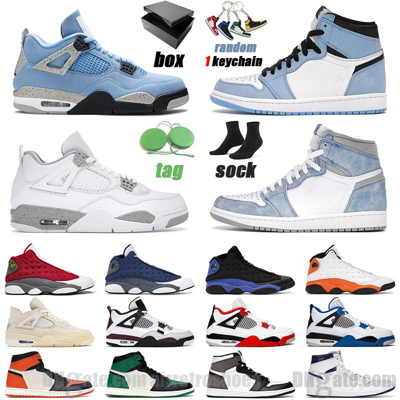 basketball shoes 1 hyper royal 1s university blue 4s back cat fire red 13s flint men women sneaker outdoor mens sports sneakers