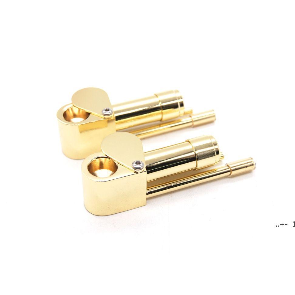 Messing Raucherleitung Demontierbarer Metallmagnet Rauchrohre Kreative Gürtel Medizin Box Zink Legierung Magnetische 86mm Länge Tabak Meer FWC7533