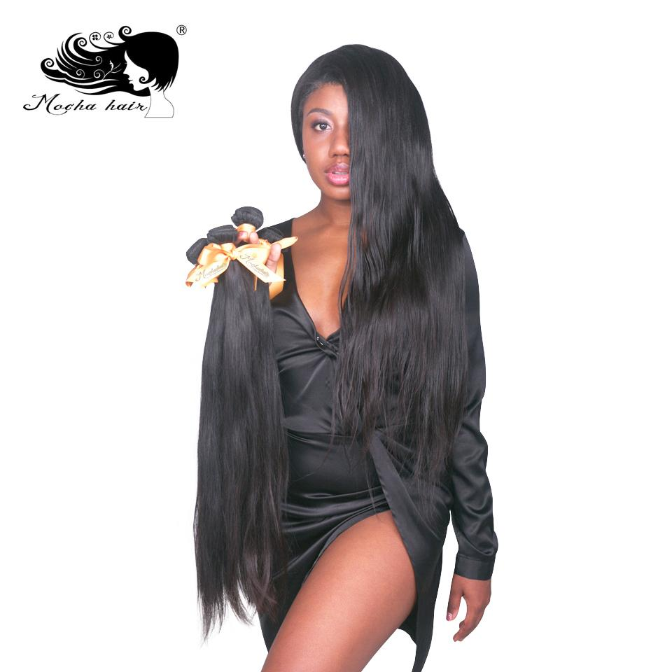 """Mokka-Haar 8 """"- 28"""" 10A 100% Unverarbeitete brasilianische geradlinige geradlinige Haarverlängerung natürliche Farbe"""