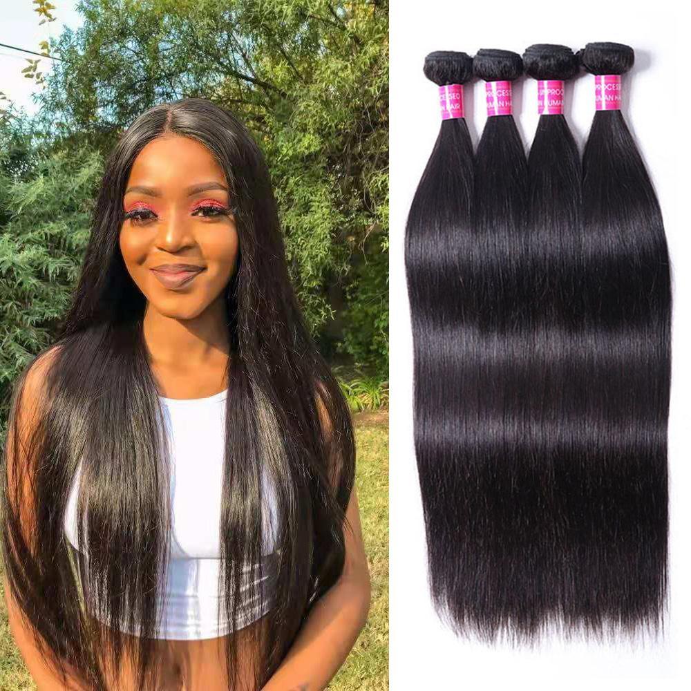 Peruvian Indian Malaysian Brazilian 100% Virgin Human Hair Weave Bundles Natural Straight Body Wave Loose Water Deep Wave Curly Human Hair Extensions