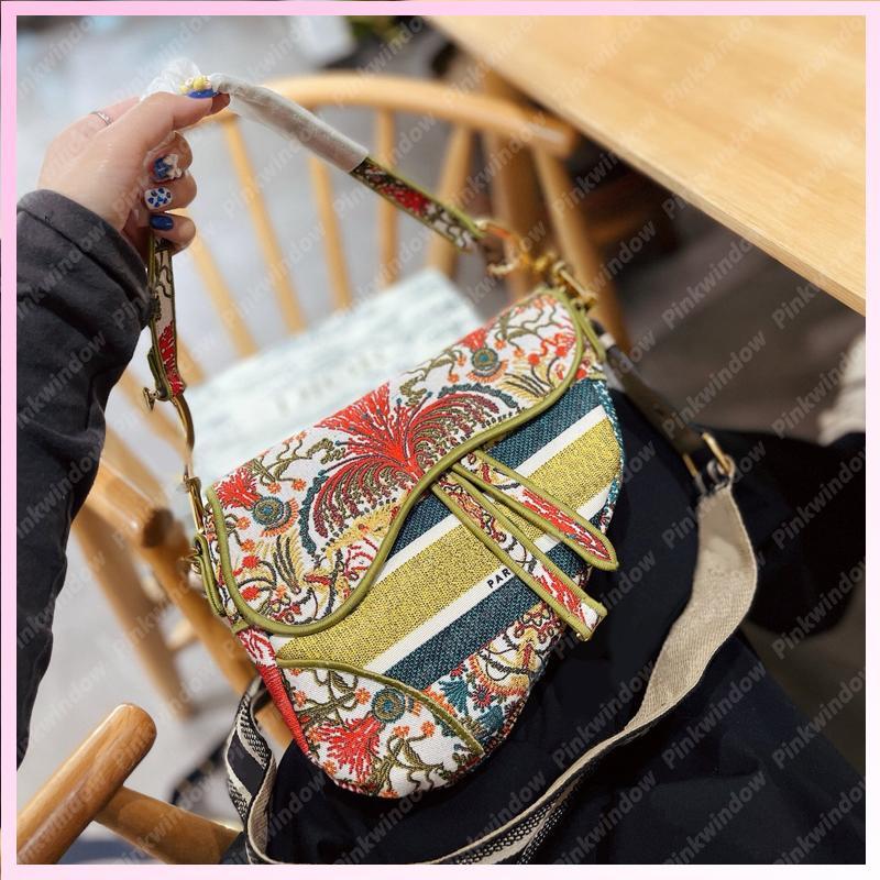Mode Blumensattel Tasche Womens Handtaschen Hibiskus Crossbody Tasche Frauen Luxurys Designer Taschen 2021 Handtasche Schultertasche Geldbörsen 2105076L