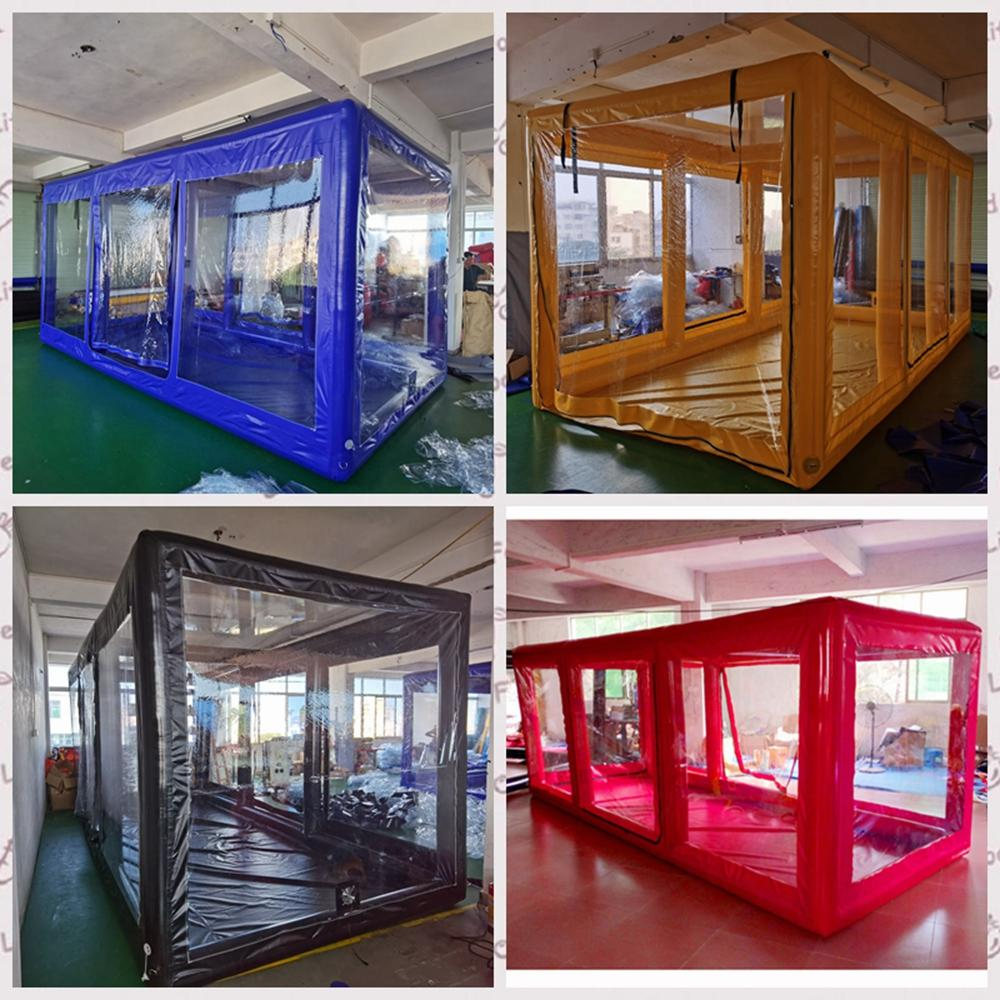 Customise car air inflation inflatable spray booth garage exhibition cars capsule storage marquee bag with fireproof PVC