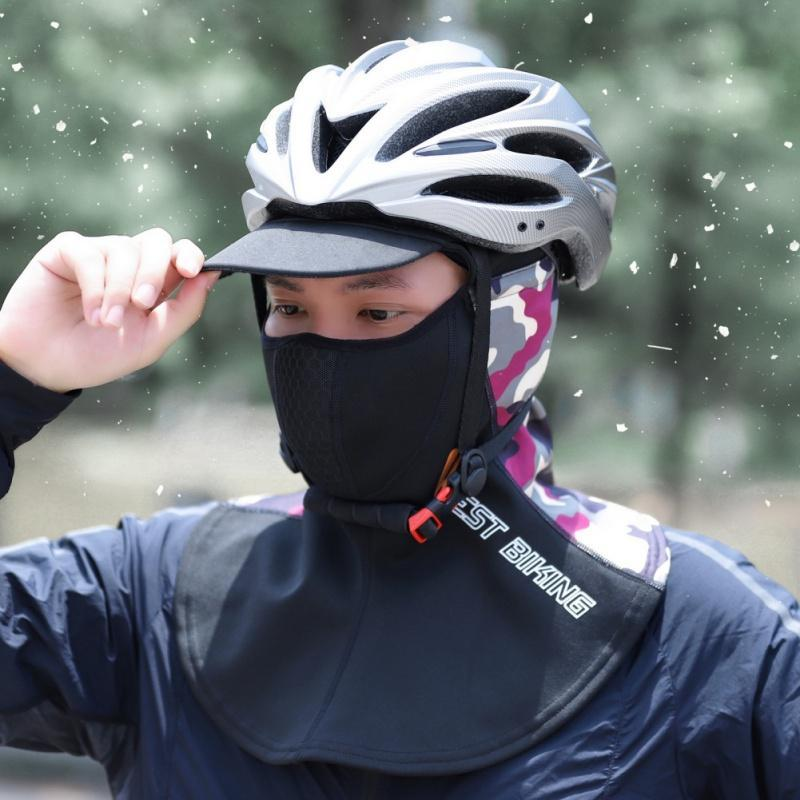 Cycling Caps & Masks Balaclava Full Face Scarf Mask Hiking Hunting Bike Head Cover Men Winter Warm Headgear Tactical Cap With Hat