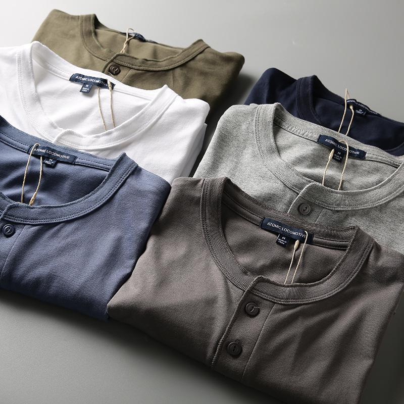 Fabrik Großhandel Wind Henry Kragen Männer Kleiner Standsommer Kurzer Halbhülse T-Shirt Mode